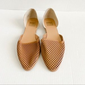 Dolce vita tan and gold flats size 9.5